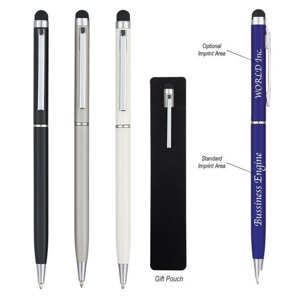 Sleek Aluminium Pen with Stylus AA-GG7