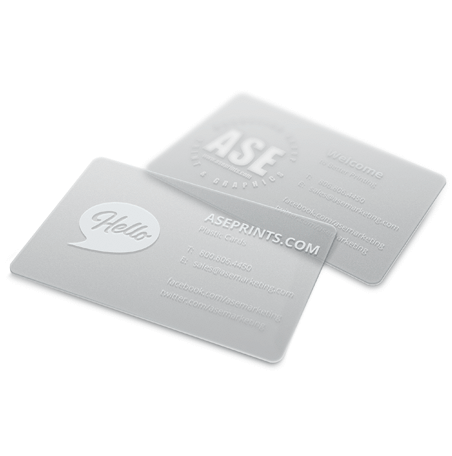 30PT Plastic Business Cards
