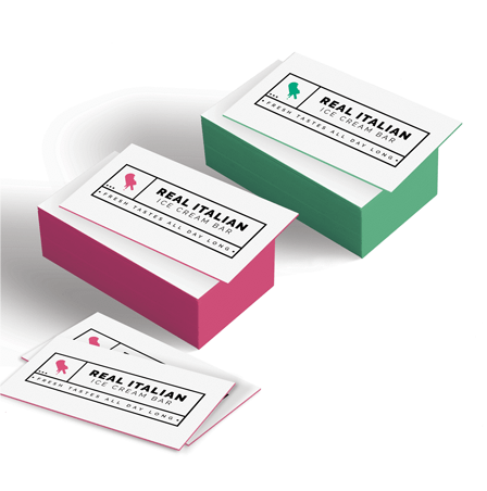 32PT Thick Color Edge Business Cards