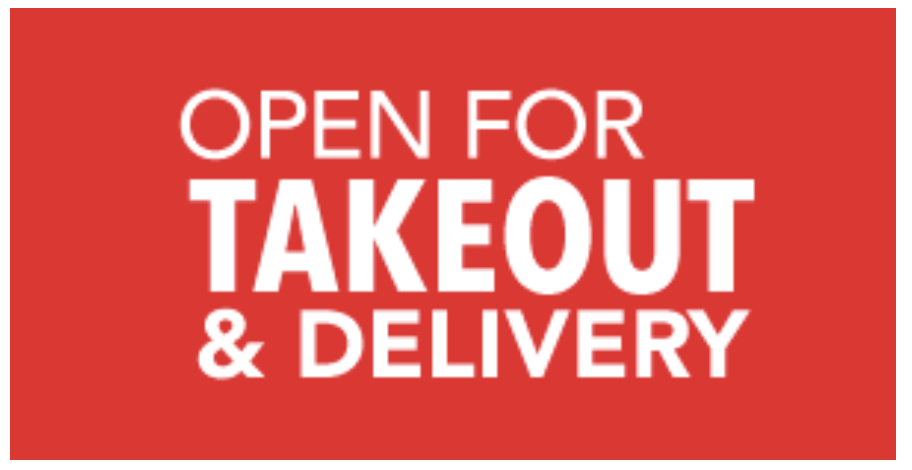 OPEN FOR TAKEOUT BANNER. 4' X 8'