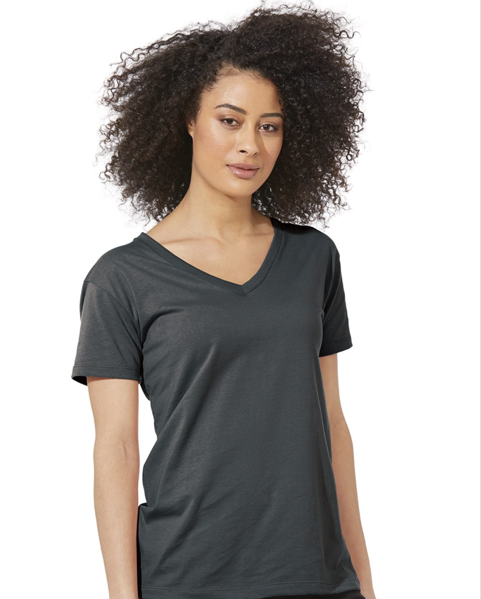 Next Level - Women's Fine Jersey Relaxed V T-Shirt - 3940