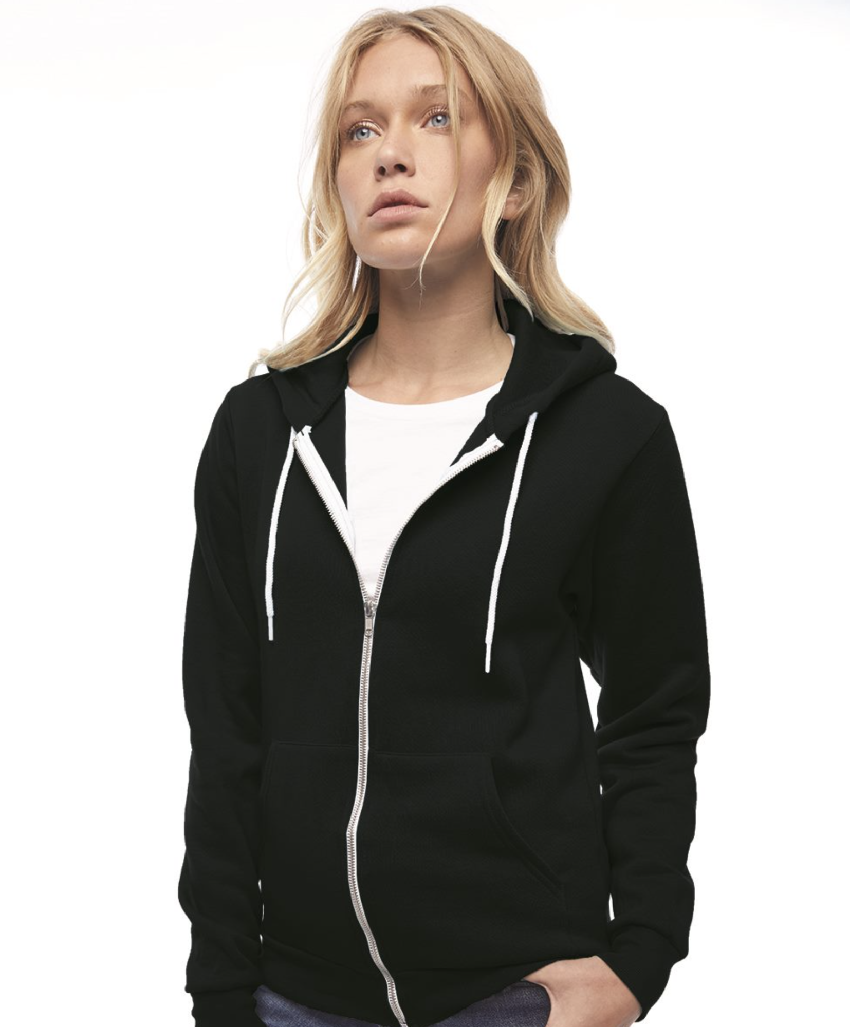 Premium American Apparel - Flex Fleece Unisex Full-Zip Hoodie - F497W