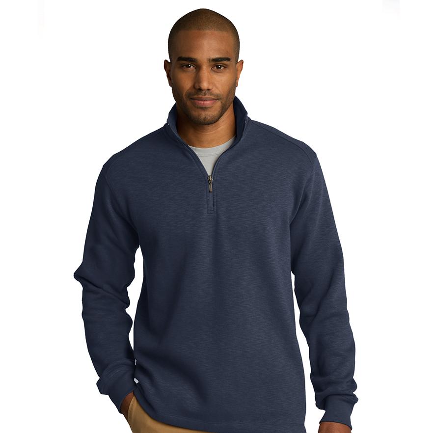 Port Authority® Slub Fleece 1/4-Zip Pullover - F295