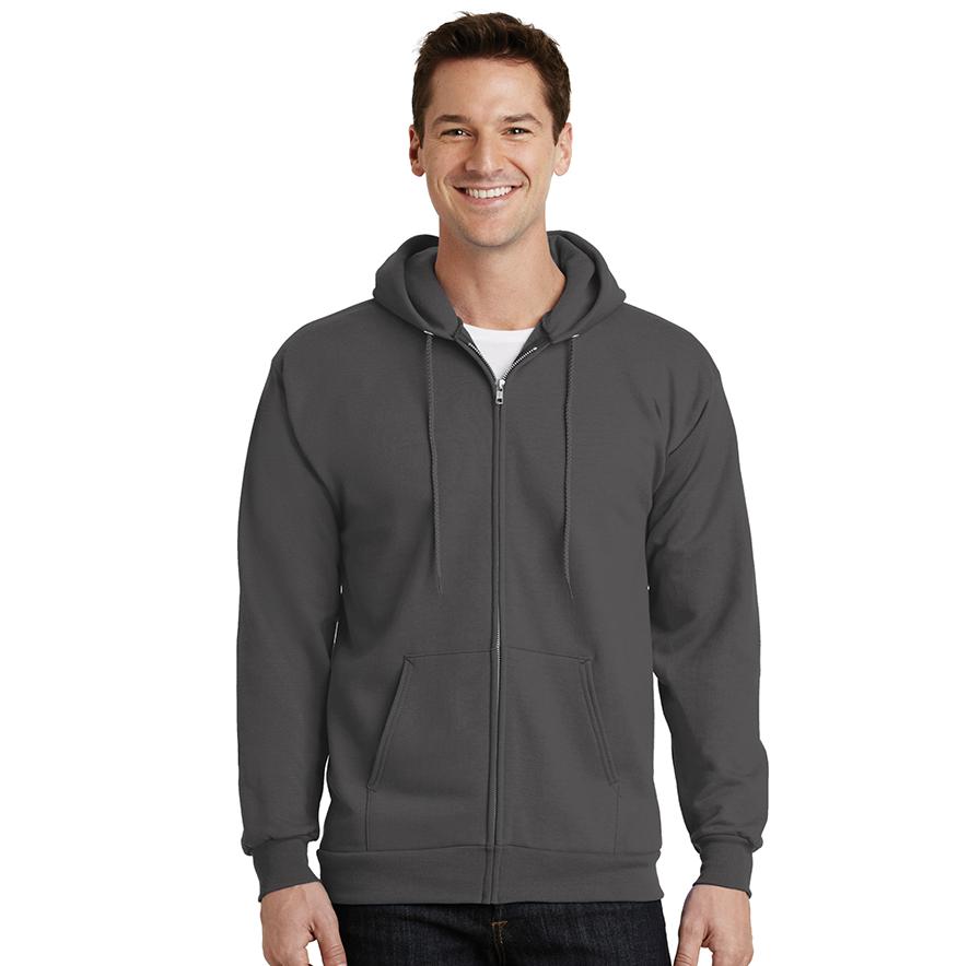 Port & Company® Essential Fleece Full-Zip Hooded Sweatshirt - PC90ZH