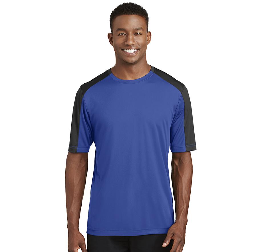 Athletic DRI FIT ST354  Sport-Tek® PosiCharge® Competitor™ Sleeve-Blocked Tee