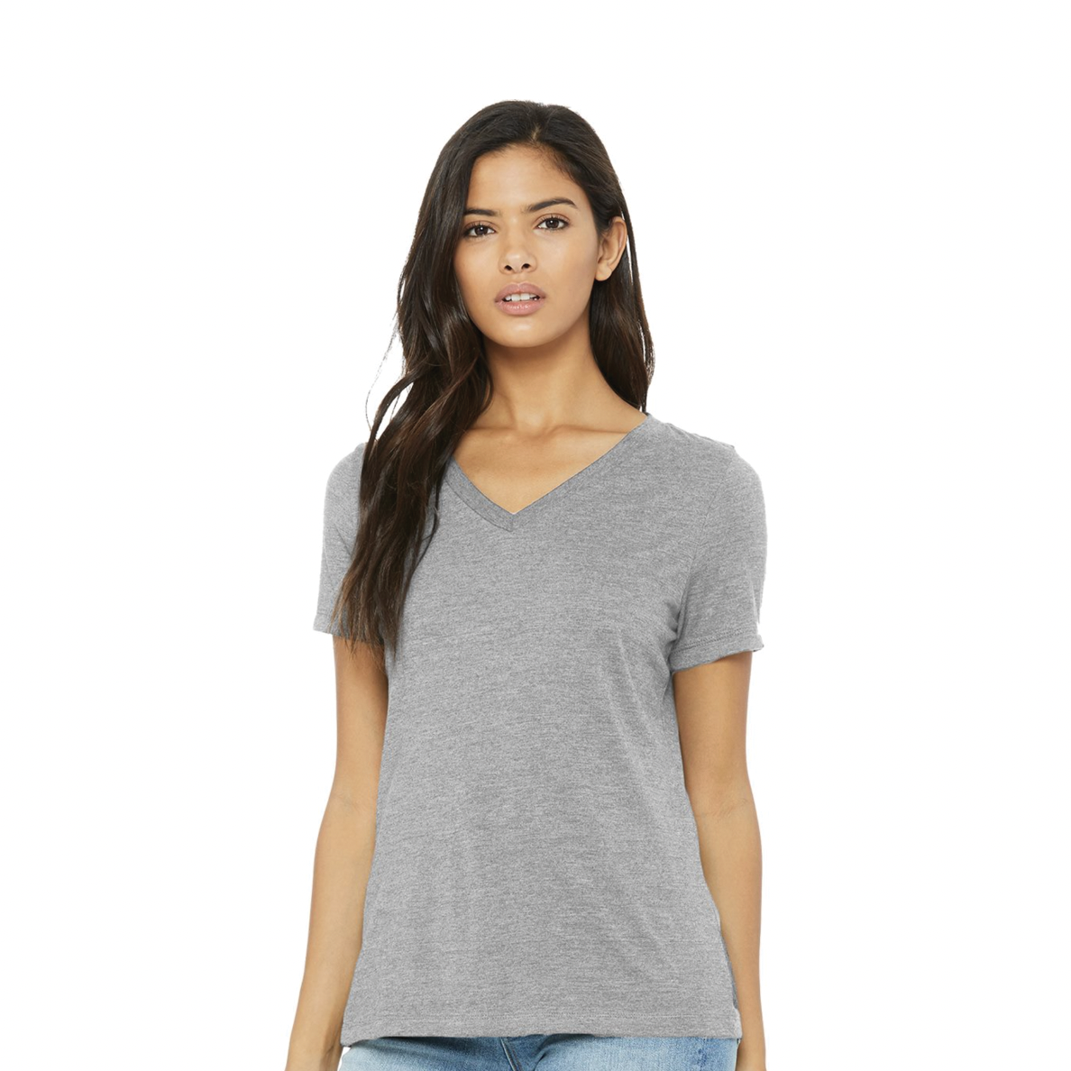 Premium BELLA + CANVAS - Women's Relaxed Jersey V-Neck Tee - 6405