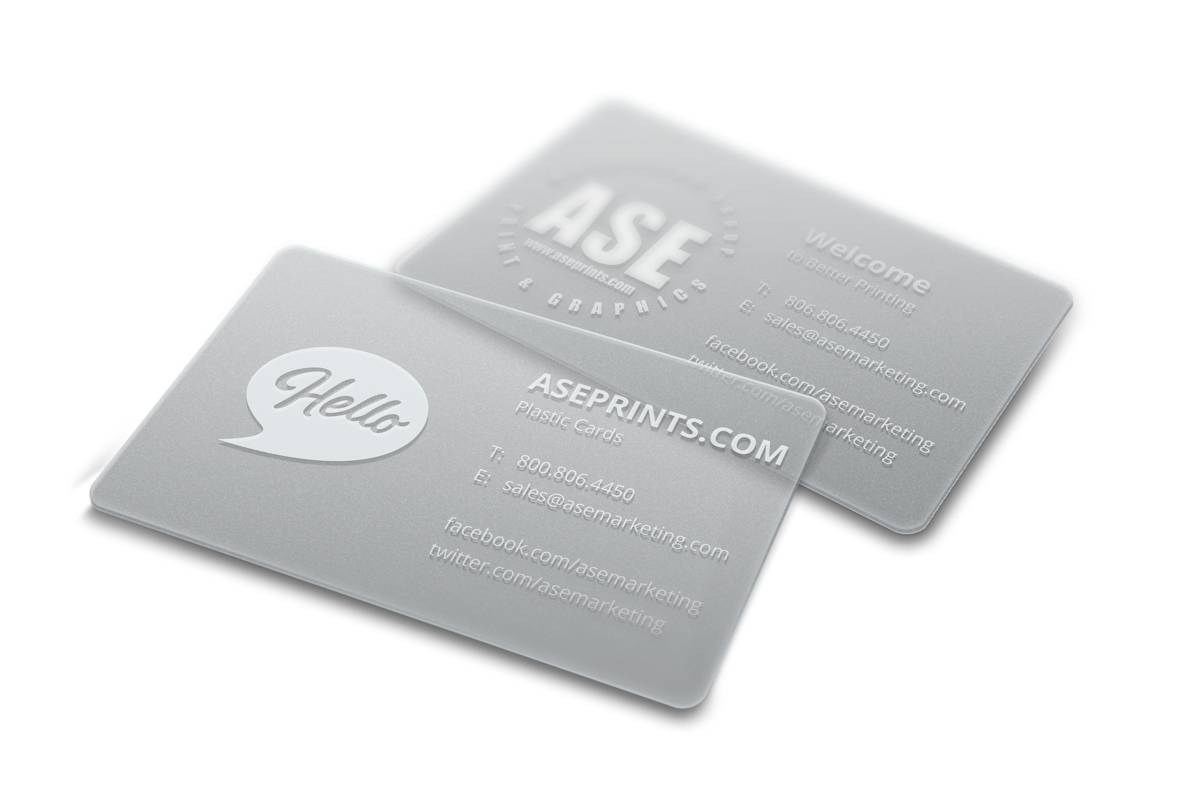 20PT Plastic Business Cards